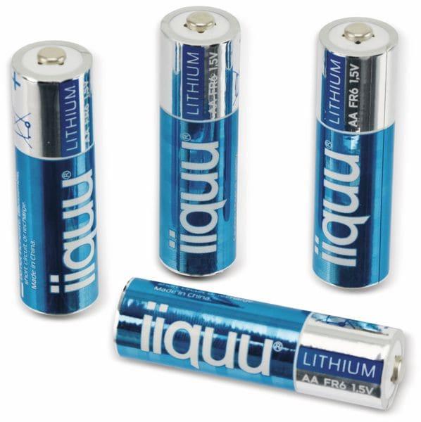 Mignon-Batterie,GPBatteries, IIQUU, Lithium, FR6, 4 Stück