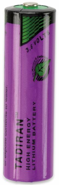 Lithium-Batterie TADIRAN, SL360/S, 3,6V, 2,4Ah, AA (Mignon)