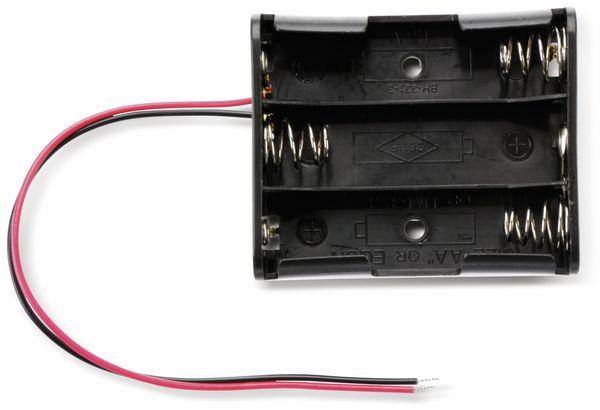 Batteriehalter für 3 Mignon, AA, mit Anschlußkabel