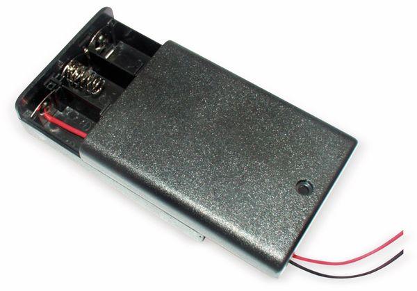 Batteriehalter 3 x Mignon AA geschlossen 15 cm Anschlusskabel, Schalter