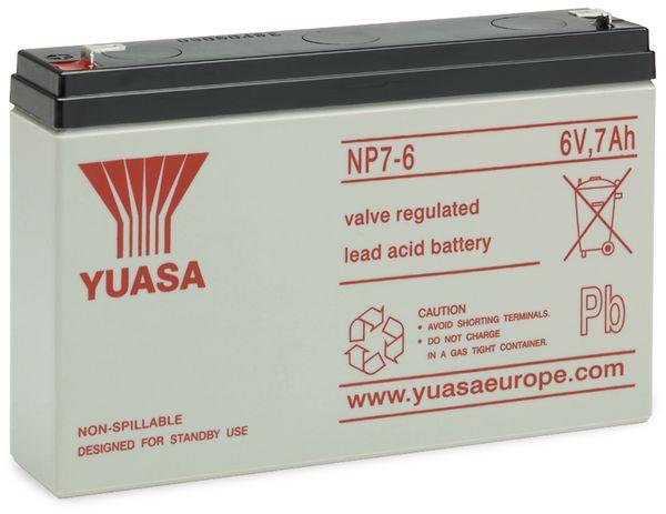 Blei-Akkumulator YUASA NP7-6, 6 V-/7 Ah, B-Ware