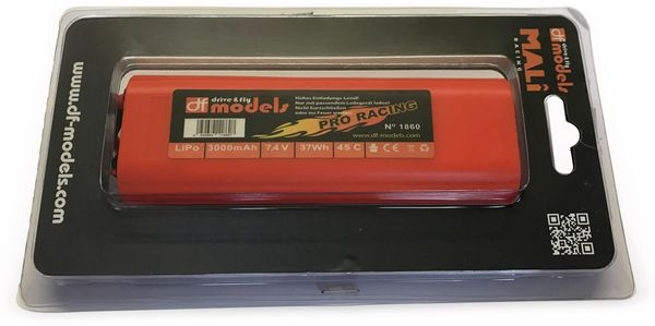 Lipo Akku 2S, 7,4 Volt, 3000mAh, 45C, Hardcase, rund - Produktbild 2