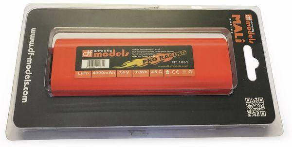 Lipo Akku 2S, 7,4 Volt, 4000mAh, 45C, Hardcase, rund - Produktbild 2