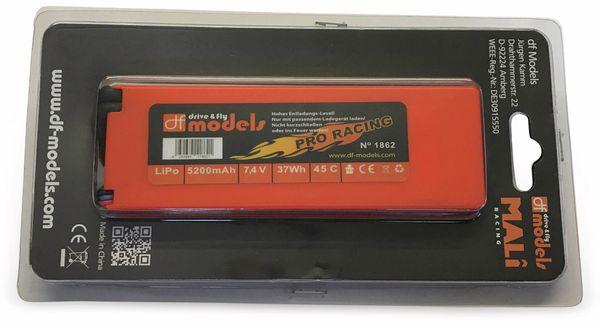 Lipo Akku 2S, 7,4 Volt, 5200mAh, 45C, Hardcase, eckig - Produktbild 2