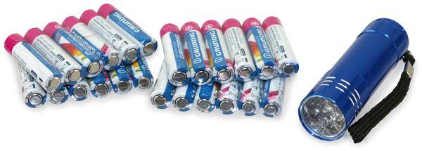 Micro-Batterie GRUNDIG, 24 Stück, inkl. LED Taschenlampe