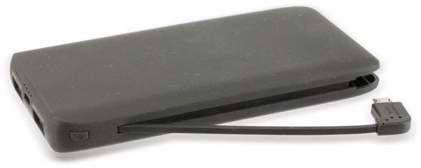 Powerbank K50-SW, 5000 mAh, schwarz - Produktbild 1