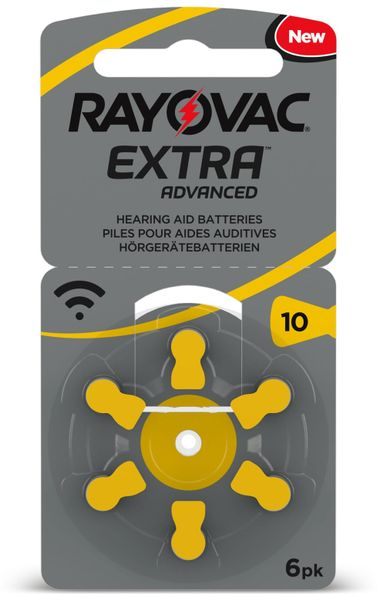 Hörgeräte-Batterie, RAYOVAC, EXTRA ADVANCED, Größe 10, 6 Stück