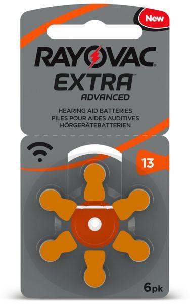 Hörgeräte-Batterie, Größe 13, RAYOVAC, EXTRA ADVANCED, 6 Stück