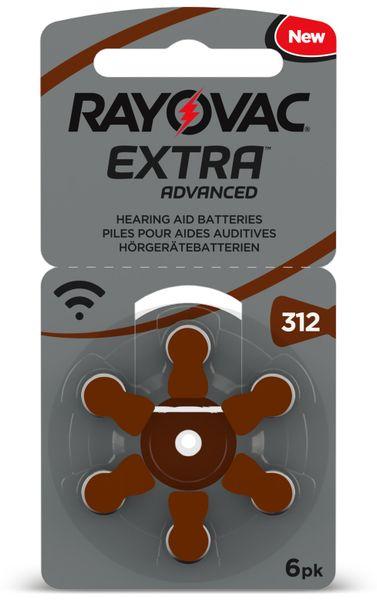 Hörgeräte-Batterie, RAYOVAC, EXTRA ADVANCED, Größe 312, 6 Stück