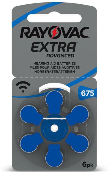 Hörgeräte-Batterie, RAYOVAC, EXTRA ADVANCED, Größe 675, , 6 Stück