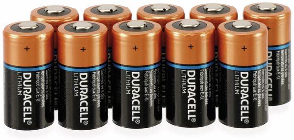Lithium-Batterie, DURACELL ,Ultra Lithium, CR123A, 10 Stück