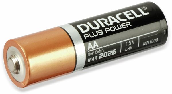 Mignon-Batterie, DURACELL, DURALOCK, PLUS POWER, 12 Stück