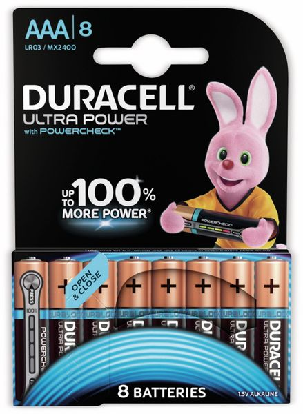Micro-Batterien DURACELL ULTRA POWER, 8 Stück