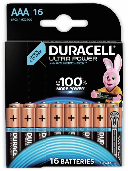 Micro-Batterien DURACELL ULTRA POWER, 16 Stück