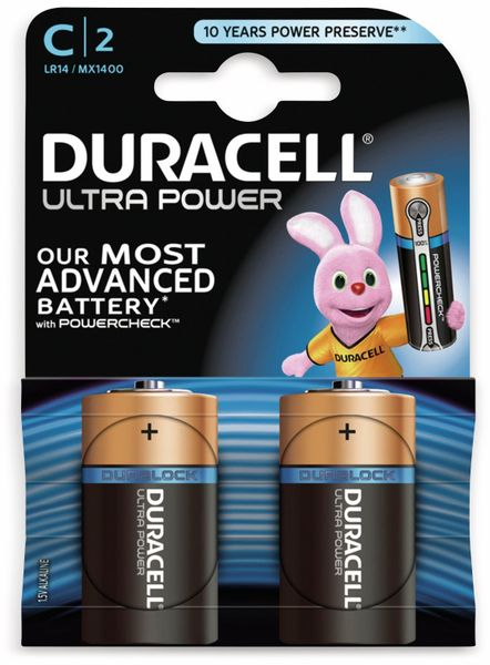 Baby-Batterien DURACELL ULTRA POWER, 2 Stück