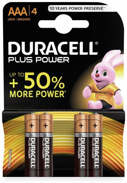 Micro-Batterien DURACELL PLUS POWER, 4 Stück