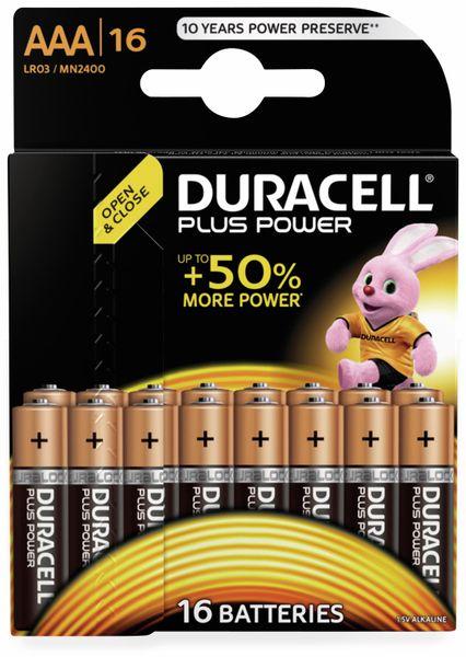 Micro-Batterien DURACELL PLUS POWER, 16 Stück