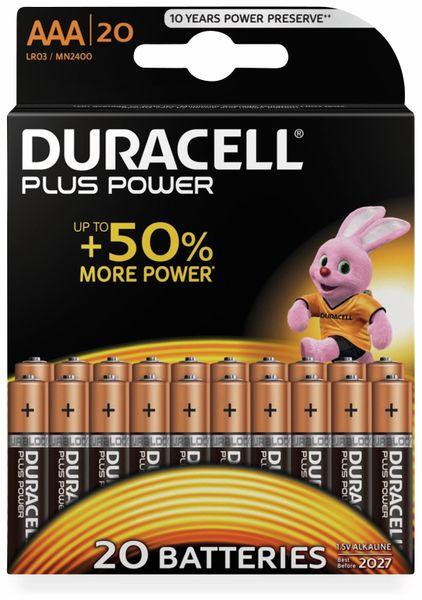 Micro-Batterien DURACELL PLUS POWER, 20 Stück