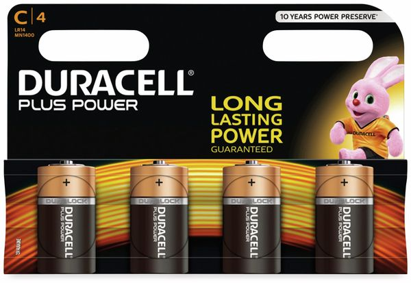 Baby-Batterien DURACELL PLUS POWER, 4 Stück