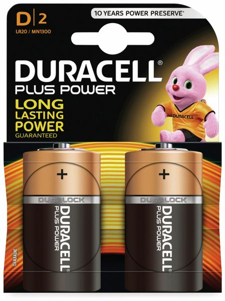 Mono-Batterien DURACELL PLUS POWER, 2 Stück