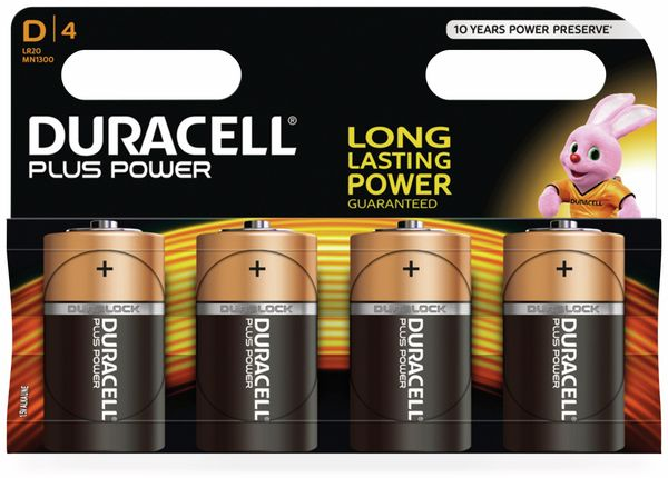Mono-Batterien DURACELL PLUS POWER, 4 Stück