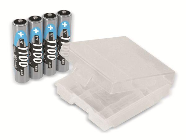 Micro-Akku, NiMH, ANSMANN, 1100mAh, 4 Stück - Produktbild 1