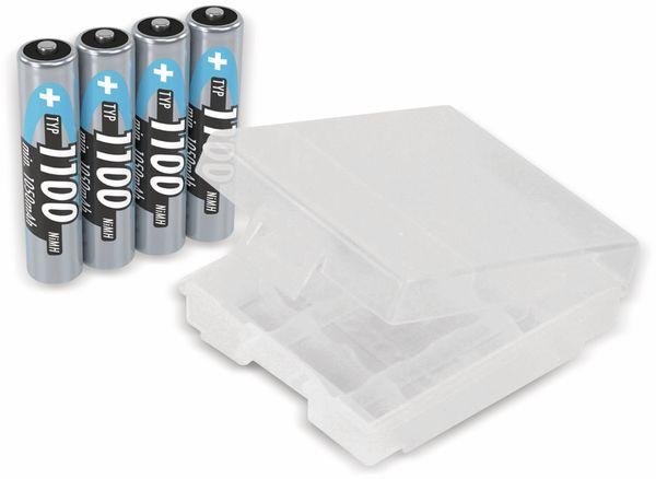 NiMH-Micro-Akku ANSMANN, 1100 mAh, 4 Stück, mit Batterienbox