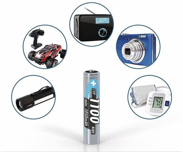 NiMH-Micro-Akku ANSMANN, 1100 mAh, 4 Stück, mit Batterienbox - Produktbild 3