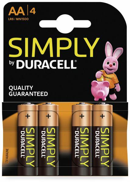 Mignon-Batterien DURACELL SIMPLY, 4 Stück