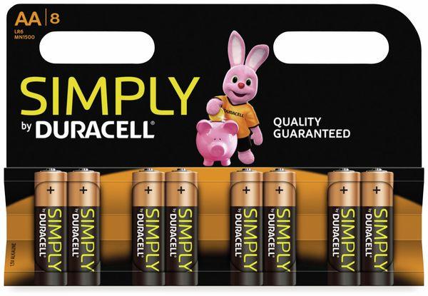 Mignon-Batterien DURACELL SIMPLY, 8 Stück
