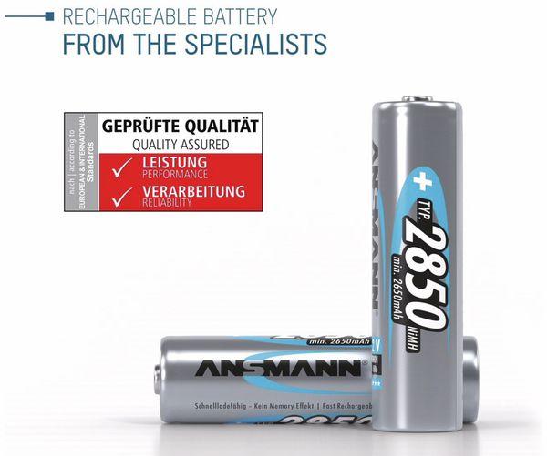 NiMH-Mignon-Akku ANSMANN, 2850 mAh, 4 Stück, mit Batterienbox - Produktbild 2