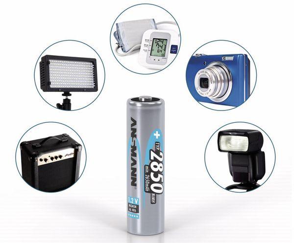 NiMH-Mignon-Akku ANSMANN, 2850 mAh, 4 Stück, mit Batterienbox - Produktbild 3