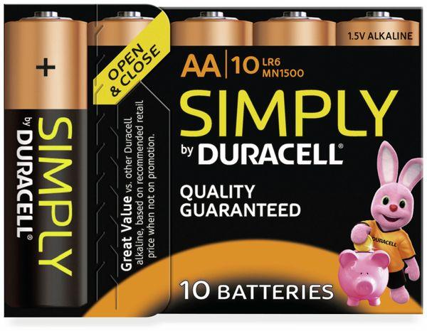 Mignon-Batterien DURACELL SIMPLY, 10 Stück