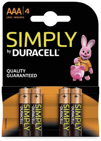 Micro-Batterien DURACELL SIMPLY, 4 Stück