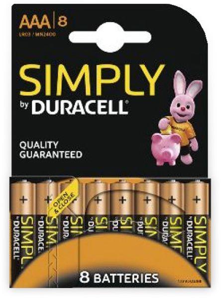 Micro-Batterien DURACELL SIMPLY, 8 Stück