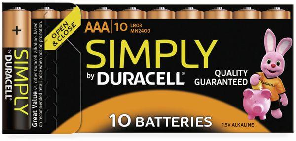Micro-Batterien DURACELL SIMPLY, 10 Stück