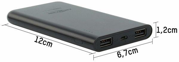 USB Powerbank, ANSMANN, Pb5.4, 5000mA, schwarz, 2x USB Port - Produktbild 3