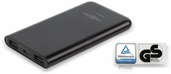 USB Powerbank, ANSMANN, Pb5.4, 5000mA, schwarz, 2x USB Port - Produktbild 4