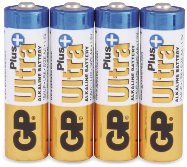 Mignon-Batterien GP ULTRA PLUS ALKALINE, 4 Stück - Produktbild 1