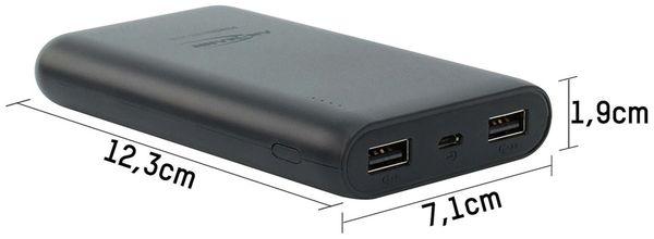 USB Powerbank, ANSMANN, Pb10.8, 10000mA, schwarz, 2x USB Port - Produktbild 3