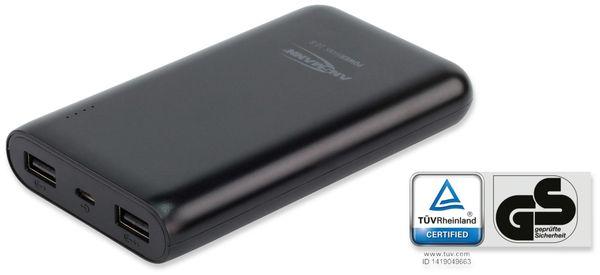USB Powerbank, ANSMANN, Pb10.8, 10000mA, schwarz, 2x USB Port - Produktbild 4