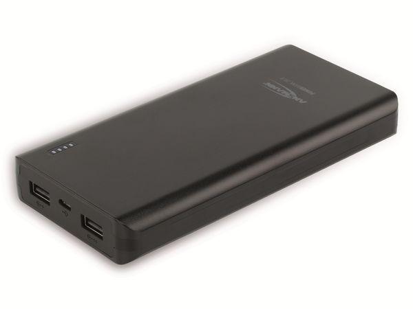 USB Powerbank, ANSMANN, Pb20.8, 20000mA, schwarz, 2x USB Port - Produktbild 1