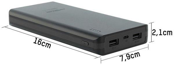 USB Powerbank ANSMANN Pb20.8, 20.000 mAh, schwarz, 2x USB Port - Produktbild 3