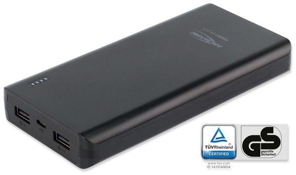 USB Powerbank ANSMANN Pb20.8, 20.000 mAh, schwarz, 2x USB Port - Produktbild 4