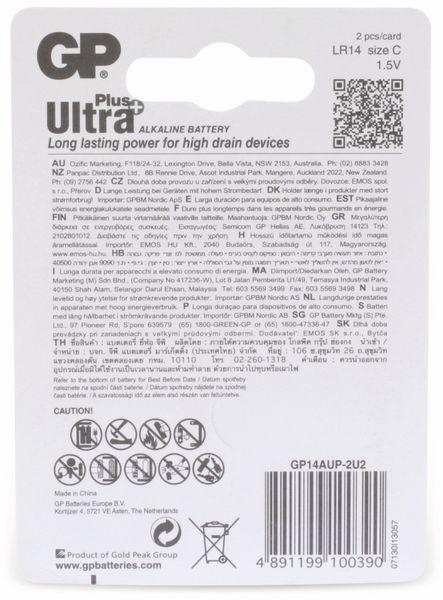 Baby-Batterien GP ULTRA PLUS ALKALINE, 2 Stück - Produktbild 6