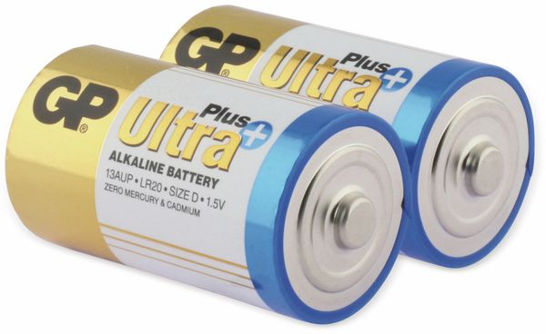 Mono-Batterien GP ULTRA PLUS ALKALINE, 2 Stück - Produktbild 2