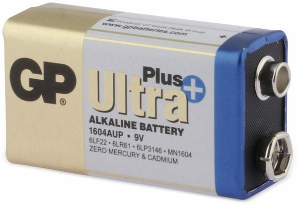 9V-Blockbatterie GP ULTRA PLUS ALKALINE, 1 Stück - Produktbild 2