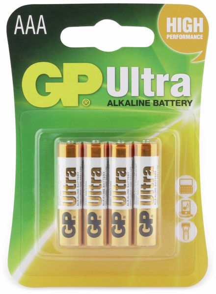 Micro-Batterien GP ULTRA ALKALINE, 4 Stück - Produktbild 5