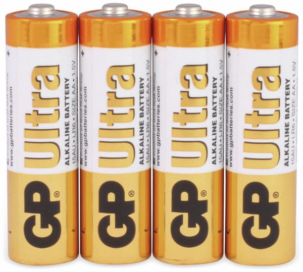 Mignon-Batterien GP ULTRA ALKALINE, 4 Stück