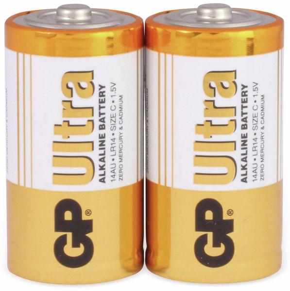 Baby-Batterien GP ULTRA ALKALINE, 2 Stück - Produktbild 1